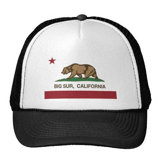 california flag big sur trucker hats