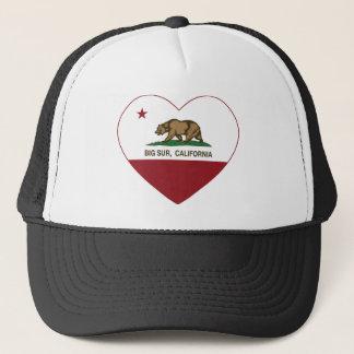 california flag big sur heart trucker hat