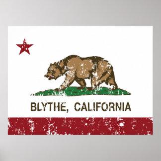 california flag blythe distressed print