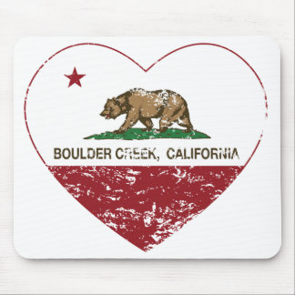 california flag boulder creek heart distressed mouse pad