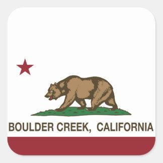 California flag boulder creek square stickers