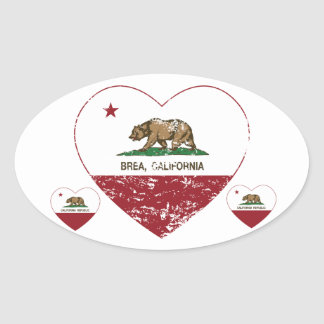 california flag brea heart distressed sticker