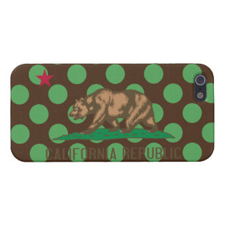 California Flag Brown and Green Polka Dots iPhone 5/5S Cover