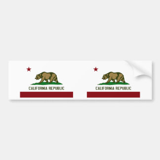 California Flag Bumper Sticker