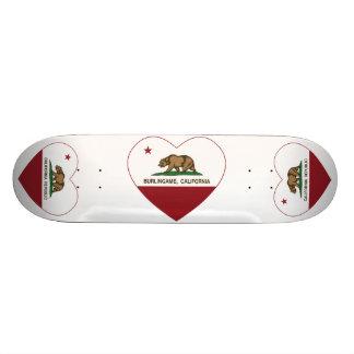 california flag burlingame heart 21.6 cm skateboard deck