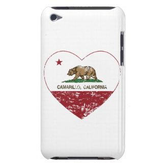 california flag camarillo heart distressed iPod Case-Mate case