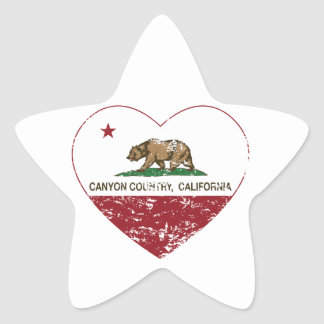 california flag canyon country heart distressed star sticker