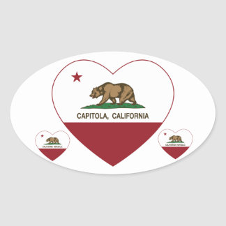 california flag capitola heart oval sticker