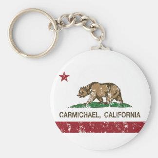 california flag carmichael distressed key ring