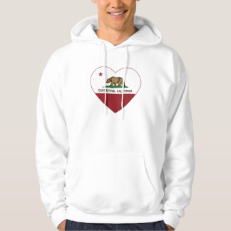 california flag carpinteria heart hoodie