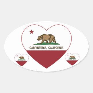 california flag carpinteria heart sticker
