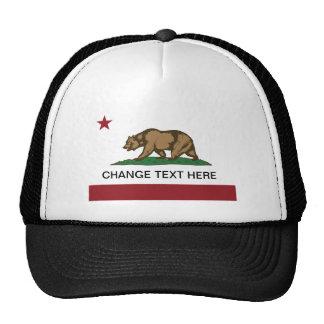 California flag change text here trucker hats