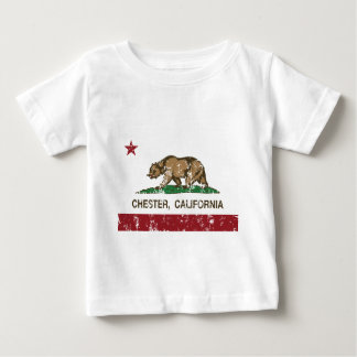 california flag chester distressed baby T-Shirt