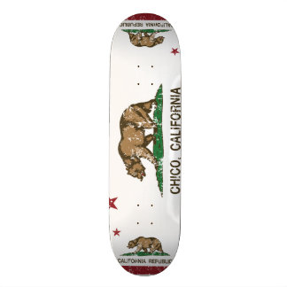 california flag chico distressed skate board
