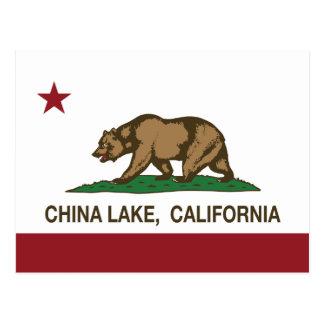 California flag china lake flag postcard