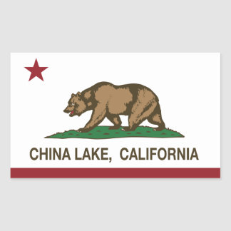 California flag china lake flag rectangular sticker