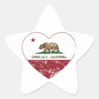 california flag china lake heart distressed star sticker