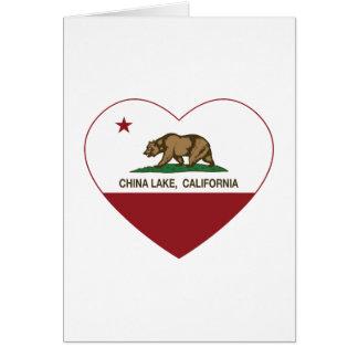 california flag china lake heart greeting card