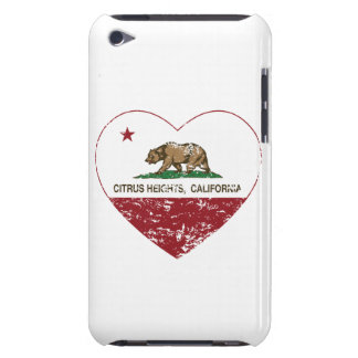 california flag citrus heights heart distressed barely there iPod cases