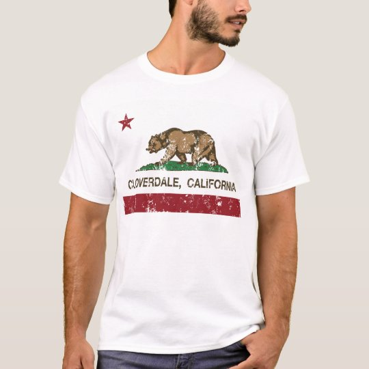 california flag cloverdale distressed T-Shirt