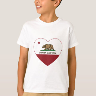 california flag coloma heart T-Shirt