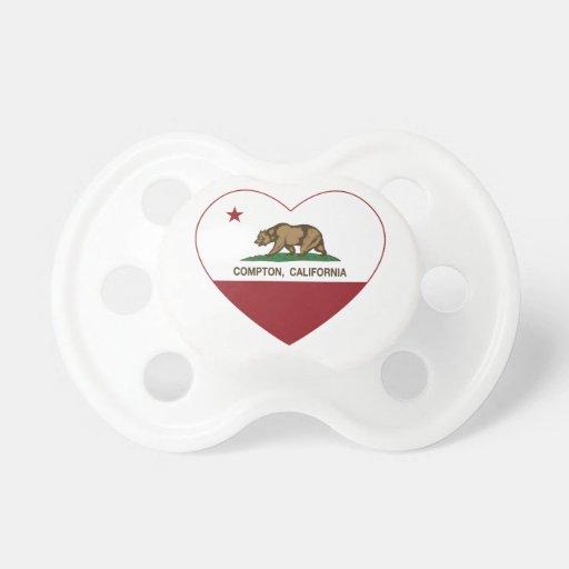 california flag compton heart baby pacifier