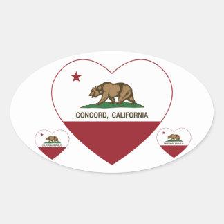 california flag concord heart sticker
