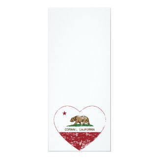 california flag corning heart distressed custom invitation