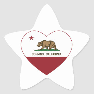 california flag corning heart star sticker