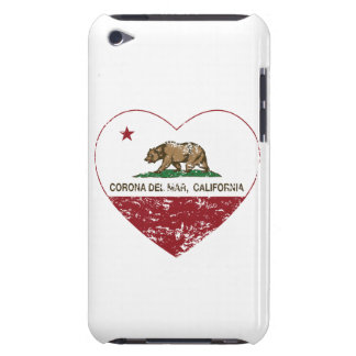california flag corona del mar heart distressed barely there iPod covers