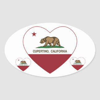 california flag cupertino heart oval stickers
