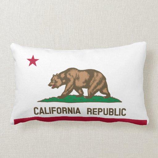 California Flag Throw Pillow