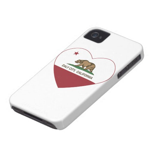 california flag daly city heart iPhone 4 cover