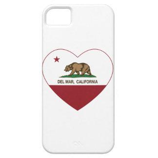 california flag del mar heart iPhone 5 case
