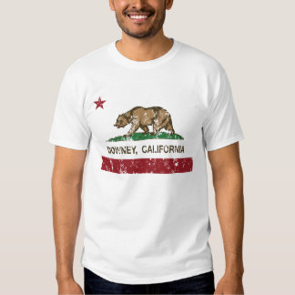 california flag downey distressed t-shirts