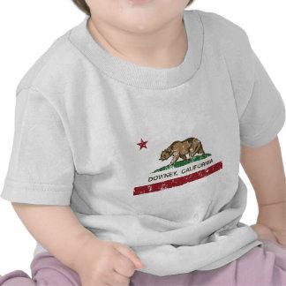 california flag downey distressed tshirts