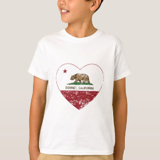 california flag downey heart distressed T-Shirt