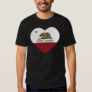california flag downey heart tee shirts