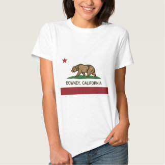 california flag downey t shirts
