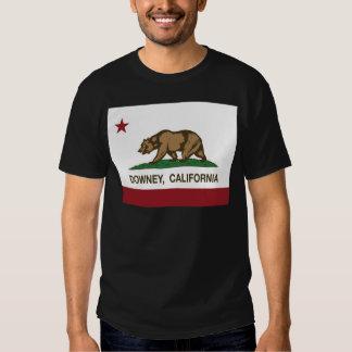 california flag downey tee shirt