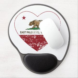 california flag east palo alto heart distressed gel mouse pad