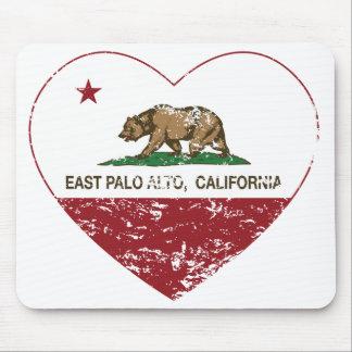 california flag east palo alto heart distressed mouse pad