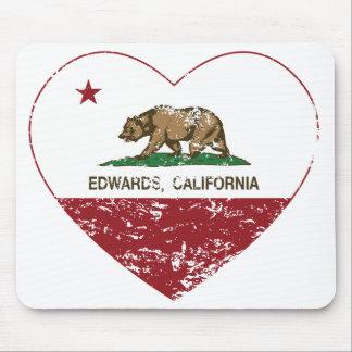 california flag edwards heart distressed mousepad