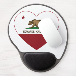 california flag edwards heart gel mouse mats