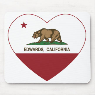 california flag edwards heart mousepad