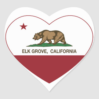 california flag elk grove heart heart sticker