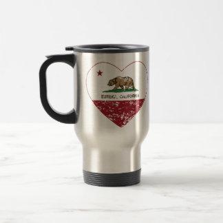 california flag eureka heart distressed coffee mug