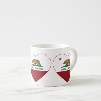 california flag eureka heart espresso mug