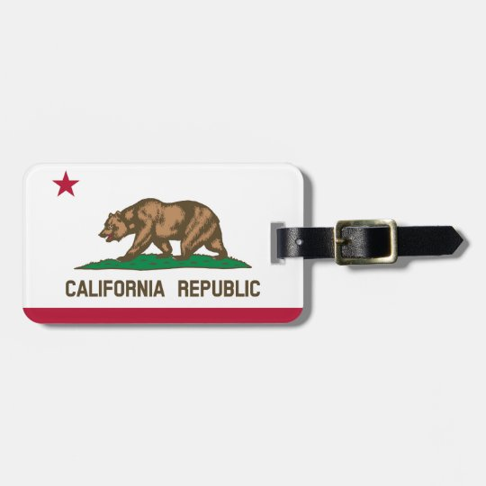 California flag for Luggage-Tag-leather-strap Luggage Tag