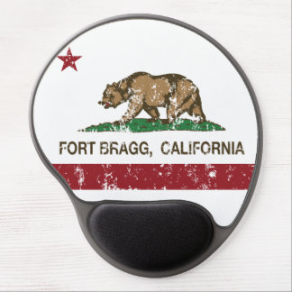 california flag fort bragg distressed gel mouse pad